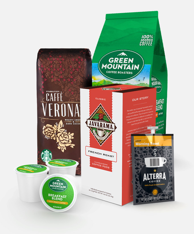 Starbucks, Green Mountain Coffee, Folgers, LAVAZZA PROFESSIONAL, Peet's Coffee & Tea, Standard Coffee® and Javarama coffee products supplier